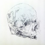 Leeza Hooper, Charchoal on paper, 2014, skull
